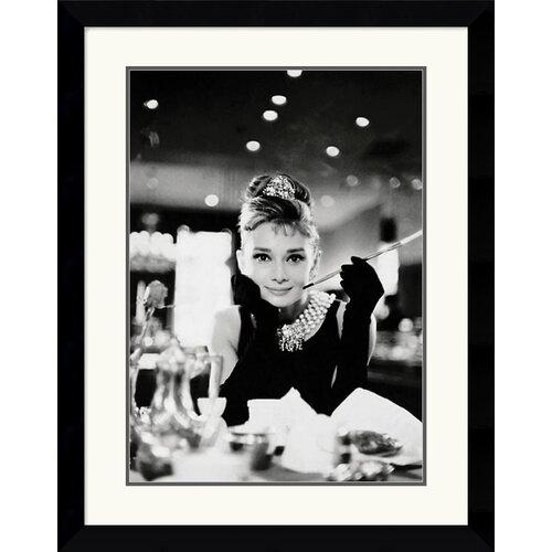 Amanti Art Audrey Hepburn - Breakfast at Tiffany's Framed Photographic Print