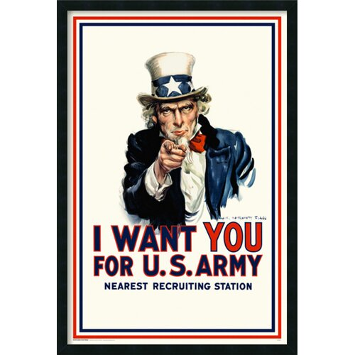 Amanti Art I Want You Uncle Sam Framed Graphic Art