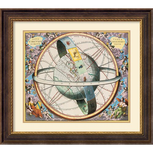 'Celestial Atlas' by Andreas Cellarius Framed Graphic Art