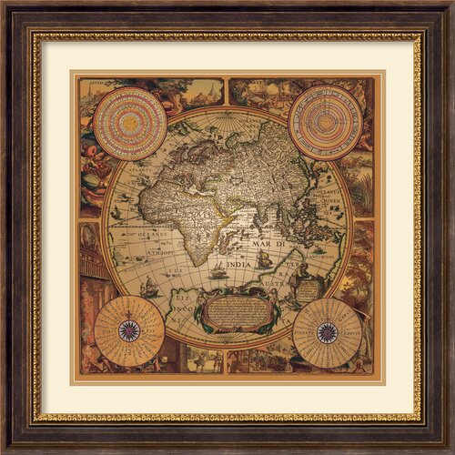 'Cartographica 1' by Max Besjana Framed Graphic Art