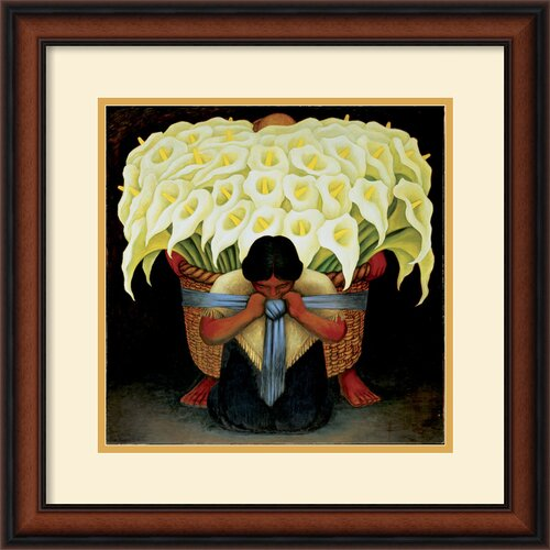 Amanti Art 'El Vendedor de Alcatraces' by Diego Rivera Framed Painting Print