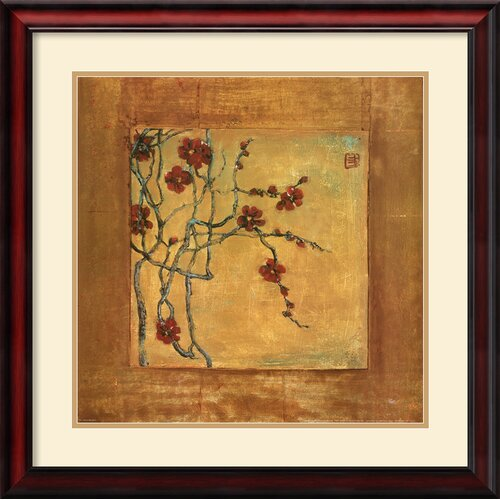 'Chinese Blossoms I' by Jill Barton Framed Painting Print