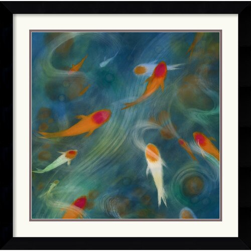 'Koi Zen 1' by Lun Tse Framed Graphic Art