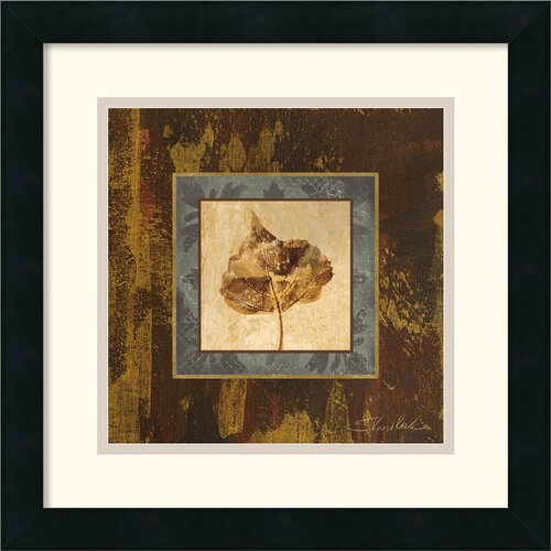 Amanti Art 'Autumn Leaf Square II' by Silvia Vassileva Framed Painting Print
