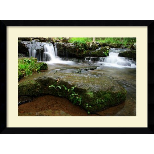 Amanti Art 'Collins Creek Cascades' by Andy Magee Framed Photographic Print