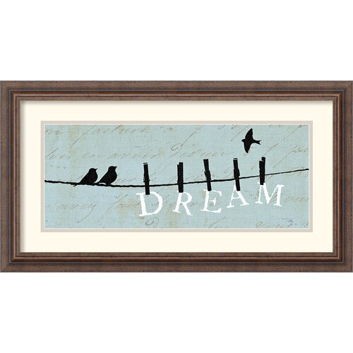 Amanti Art 'Birds on a Wire Dream' by Alain Pelletier Framed Graphic Art