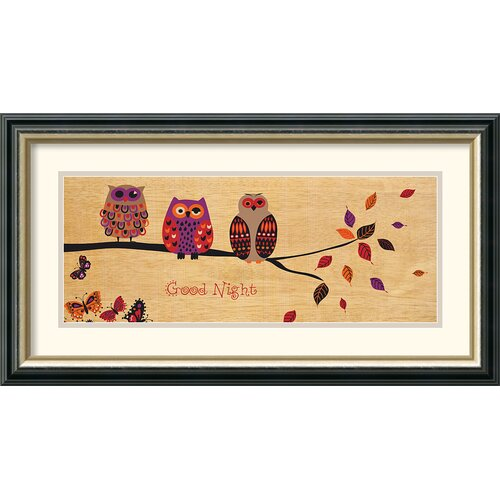 Amanti Art 'Good Night Owl' by Wild Apple Portfolio Framed Painting Print