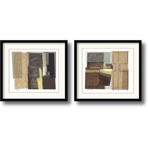 'Syncopated Rhythm' by Craig Alan 2 Piece Framed Painting Print Set