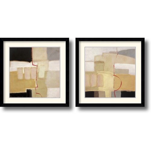 Amanti Art 'Urban Grid' by Craig Alan 2 Piece Framed Painting Print Set