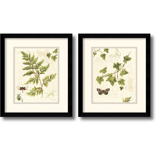 'Ivies and Ferns' by Lisa Audit Framed Graphic Art (Set of 2)