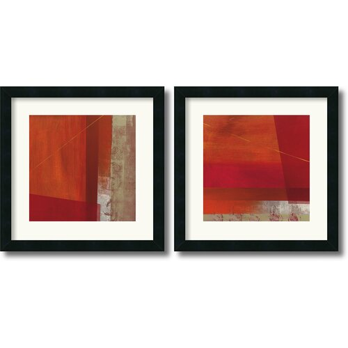 Amanti Art 'Andromeda and Cepheus' by Leo Burns 2 Piece Framed Painting Print Set