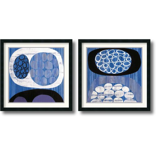 Amanti Art 'Waterway' by Mary Calkins 2 Piece Framed Graphic Art Set