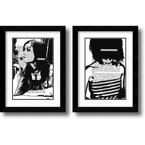 Amanti Art 'Her Story' by John Clark Framed Graphic Art