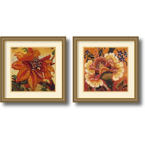 'Aurea' by John Douglas 2 Piece Framed Painting Print Set