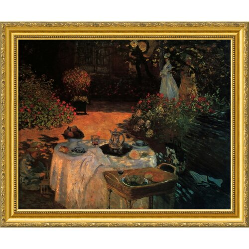 'Luncheon in the Garden' by Claude Monet Framed Graphic Art