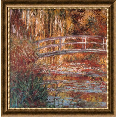Amanti Art 'The Water-Lily Pond, 1900' by Claude Monet Framed Painting Prints