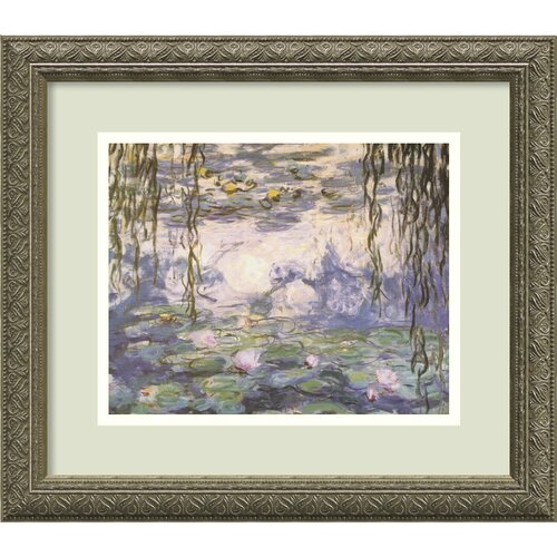 'Water Lilies and Willow Branches' by Claude Monet Framed Painting Print