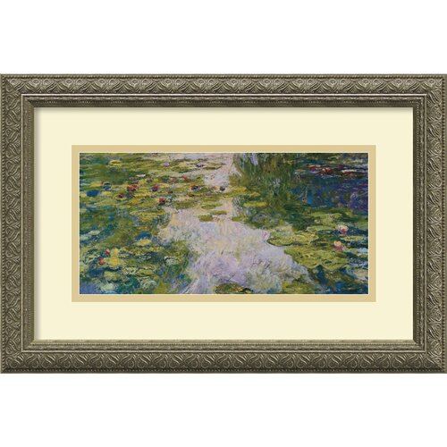 Amanti Art 'The Water Lily Pond, 1918' by Claude Monet Framed Painting Print