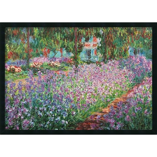 'Le Jardin de Monet a Giverny' by Claude Monet Framed Painting Prints