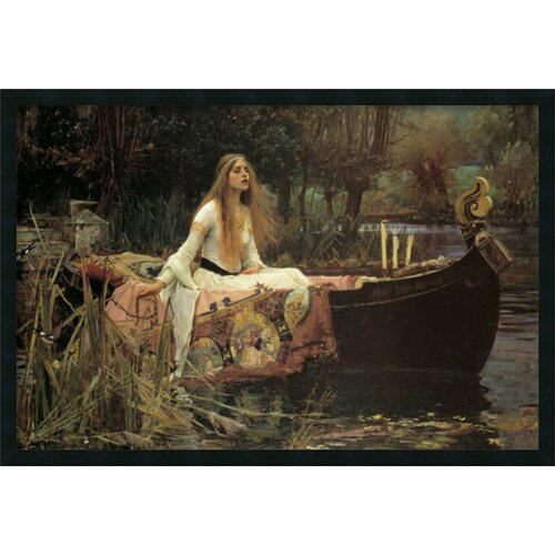 'Lady of Shalott' by John Waterhouse Framed Painting Prints