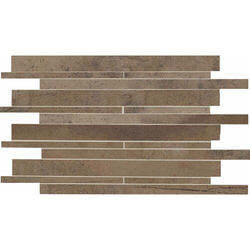 Costa Rei Random Sized Glazed Interlocking Decorative Accent Tile in Terra Marrone