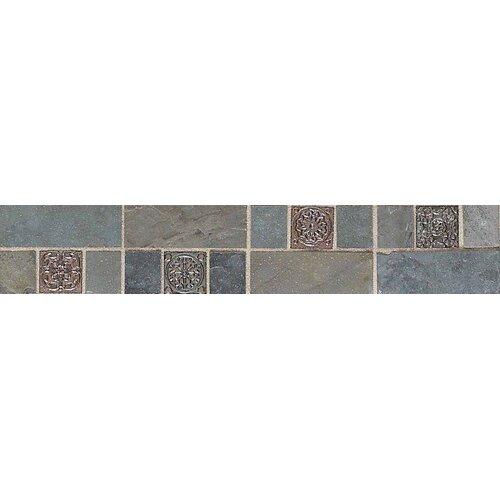 "American Olean Highland Ridge 12"" x 2"" Decorative Border Tile in Autumn/Mountain"