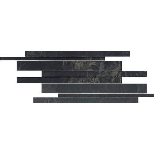 Siena Springs Random Sized Colorbody Porcelain Linear Brick Joint Mosaic in Cavern