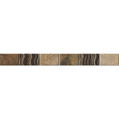 "Emser Tile Landscape 12"" x 1"" Floor Listello in Multicolor"