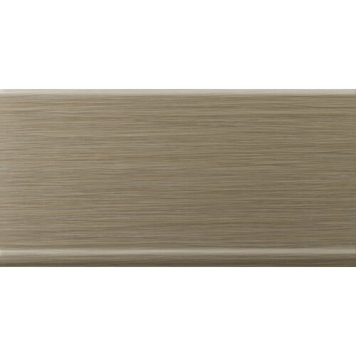 "Emser Tile Strands 12"" x 6"" Horizontal Cove Base Tile Trim in Olive"
