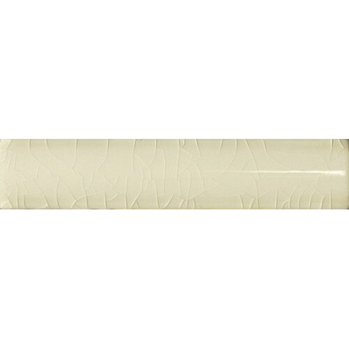 "Emser Tile Cape Cod 6"" x 1"" Quarter Round Tile Trim in Artisan Cream Crackle"