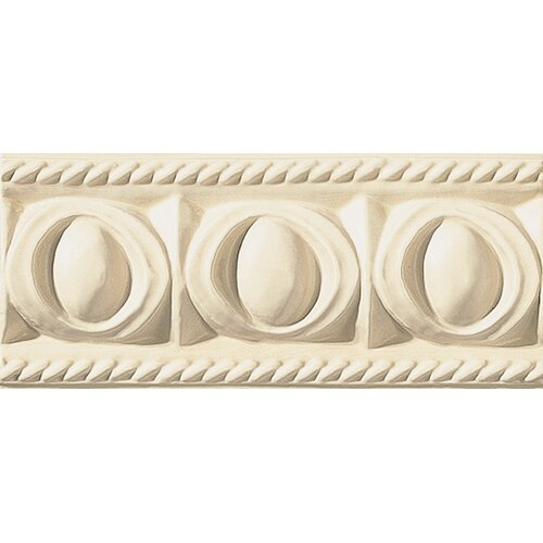 "Emser Tile Cape Cod 9"" x 4"" Park Accent Tile in Ivory Matte"