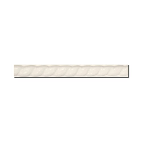 "Emser Tile Classica 9"" x 1"" Rope Liner in Cream"