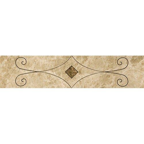 "Emser Tile Natural Stone 12"" x 3"" Marble San Carlo Listello"