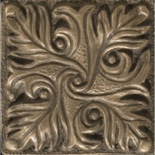 """Emser Tile Renaissance 2"""" x 2"""" Parma Insert Tile in Antique Bronze"""