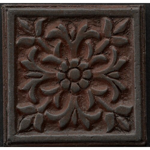 "Emser Tile Renaissance 4"" x 4"" Roma Accent Tile in Rust Iron"