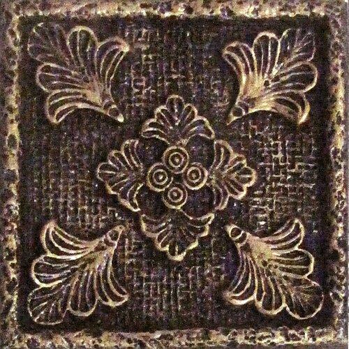 "Emser Tile Camelot 2"" x 2"" Merlin Dot in Bronze"