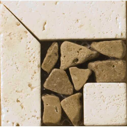 "Emser Tile Natural Stone 3"" x 3"" Cagliari Travertine Listello Corner"