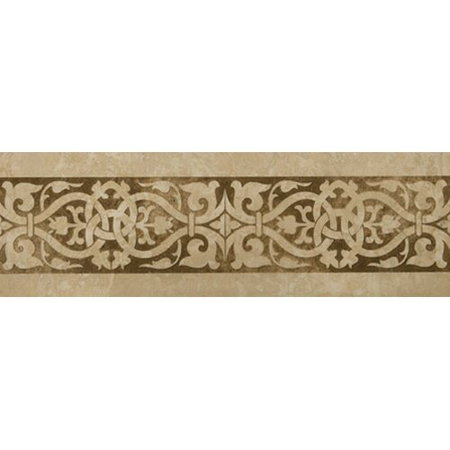 "Emser Tile Natural Stone 12"" x 4"" Macabi Travertine Stained Listello"