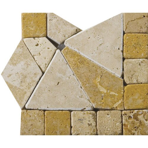 "Emser Tile Natural Stone 4"" x 4"" Schema Pisa Travertine Listello Corner"