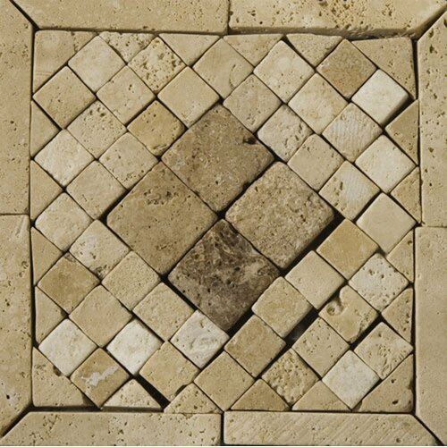 "Emser Tile Natural Stone 6"" x 6"" Tholos Travertine Listello Corner"