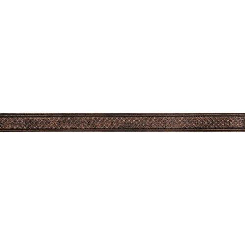 """Emser Tile Camelot 12"""" x 1"""" Igraine Liner in Copper"""