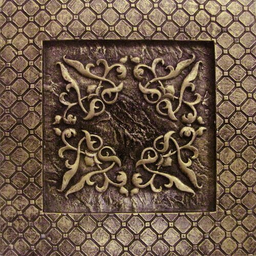 "Emser Tile Camelot 4"" x 4"" Igraine Deco in Bronze"