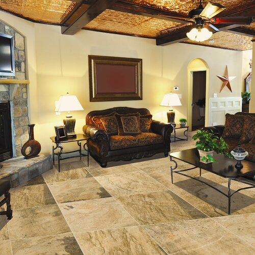 """Emser Tile Landscape 12"""" x 12"""" Porcelain Floor Tile in Canyon"""