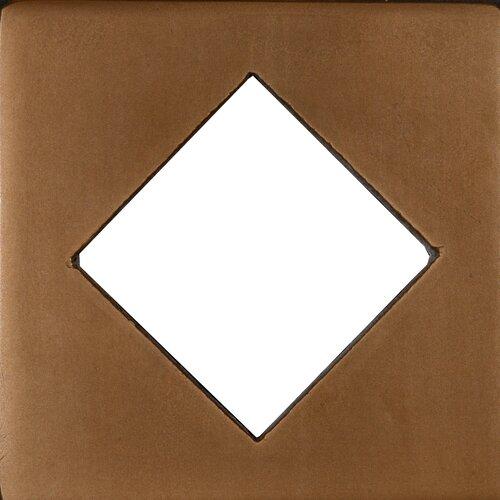 """Emser Tile Renaissance 4"""" x 4"""" Catania Field Metal Tile in Antique Bronze"""