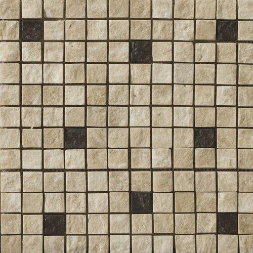 Emser Tile Natural Stone Tumbled Travertine Split Face Mosaic in Element Beige