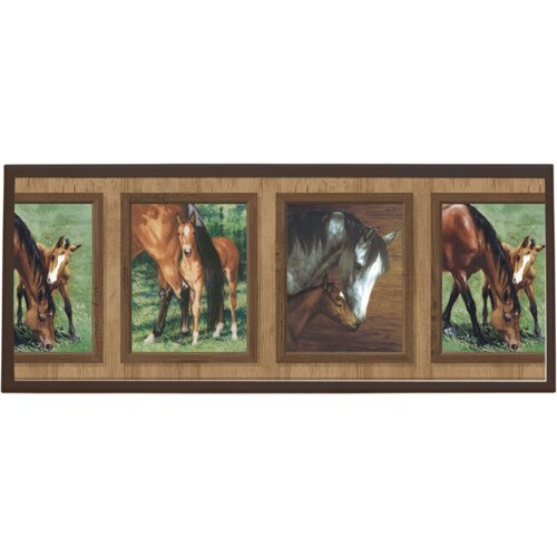 Illumalite Designs Mare and Foal Wall Painting Print on Plaque
