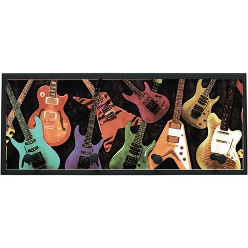 Illumalite Designs Guitar Montage Wall Plaque with Wooden Pegs