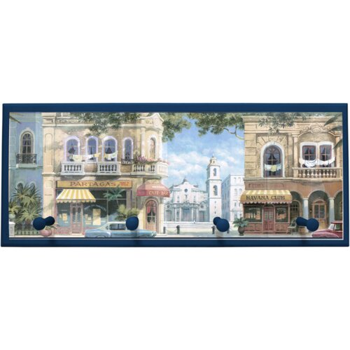 Illumalite Designs Havana Street Scene Painting Print on Plaque with Pegs
