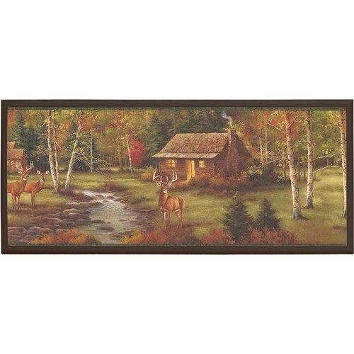 Illumalite Designs Rustic Cabin Painting Print on Plaque
