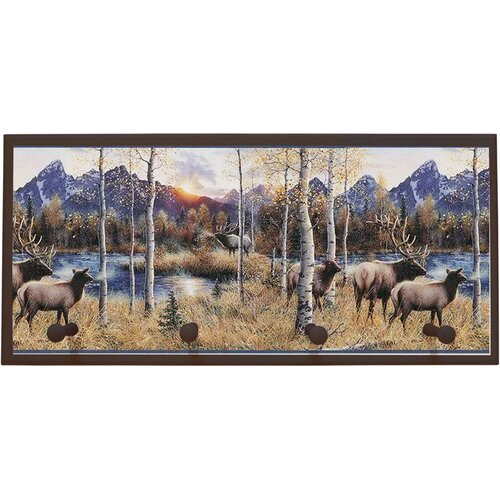 Illumalite Designs Wild Elk Painting Print on Plaque